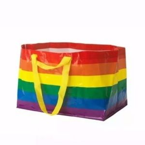 Ikea Rainbow Tote Bag Reusable Carry All Limited